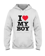 I Love My Boy Hooded Sweatshirt tile