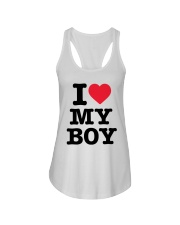 I Love My Boy Ladies Flowy Tank tile