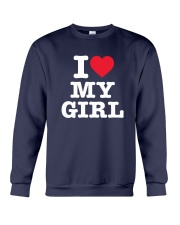 I Love My Girl White Version Crewneck Sweatshirt thumbnail