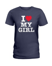 I Love My Girl White Version Ladies T-Shirt thumbnail