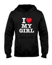 I Love My Girl White Version Hooded Sweatshirt thumbnail
