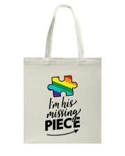 I'm His Missing Piece Tote Bag thumbnail