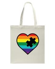 Rainbow Heart Piece Tote Bag thumbnail