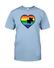 Rainbow Heart Piece Premium Fit Mens Tee thumbnail