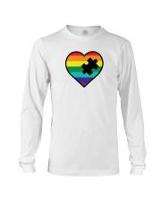 Rainbow Heart Piece Long Sleeve Tee thumbnail