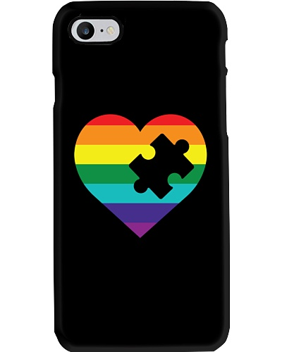 Rainbow Heart Piece Dark