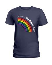 My Other Half Rainbow Left Ladies T-Shirt thumbnail