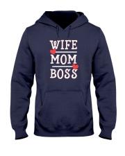 Wife Mom Boss Hooded Sweatshirt thumbnail