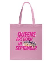 Queens Are Born in September Tote Bag thumbnail