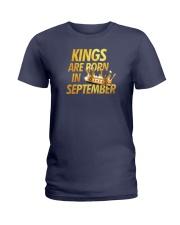 Kings Are Born in September Ladies T-Shirt thumbnail