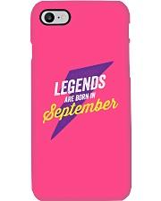 Legends Are Born in September Phone Case tile