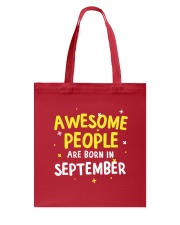 Awesome People Are Born In September Tote Bag thumbnail