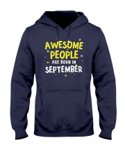 Awesome People Are Born In September Hooded Sweatshirt thumbnail