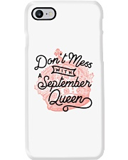 Don't Mess With a September Queen Phone Case tile