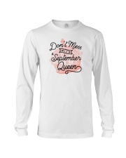 Don't Mess With a September Queen Long Sleeve Tee thumbnail