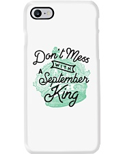 Don't Mess With a September King Phone Case tile