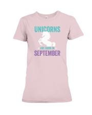 Unicorns Are Born in September Premium Fit Ladies Tee thumbnail