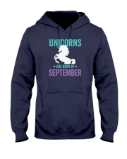 Unicorns Are Born in September Hooded Sweatshirt thumbnail