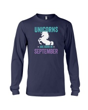 Unicorns Are Born in September Long Sleeve Tee thumbnail