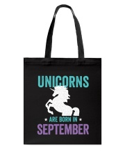Unicorns Are Born in September Tote Bag thumbnail