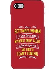 I'm a September Woman Phone Case tile