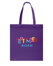 September Born Tote Bag tile