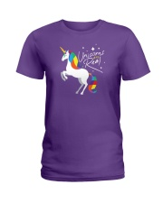 Unicorns Are Real Ladies T-Shirt thumbnail