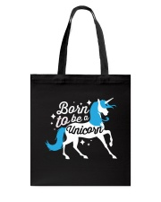 Born to be a Unicorn Tote Bag front
