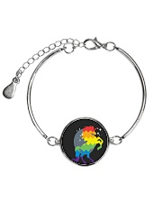 All those Unicorns Metallic Circle Bracelet front