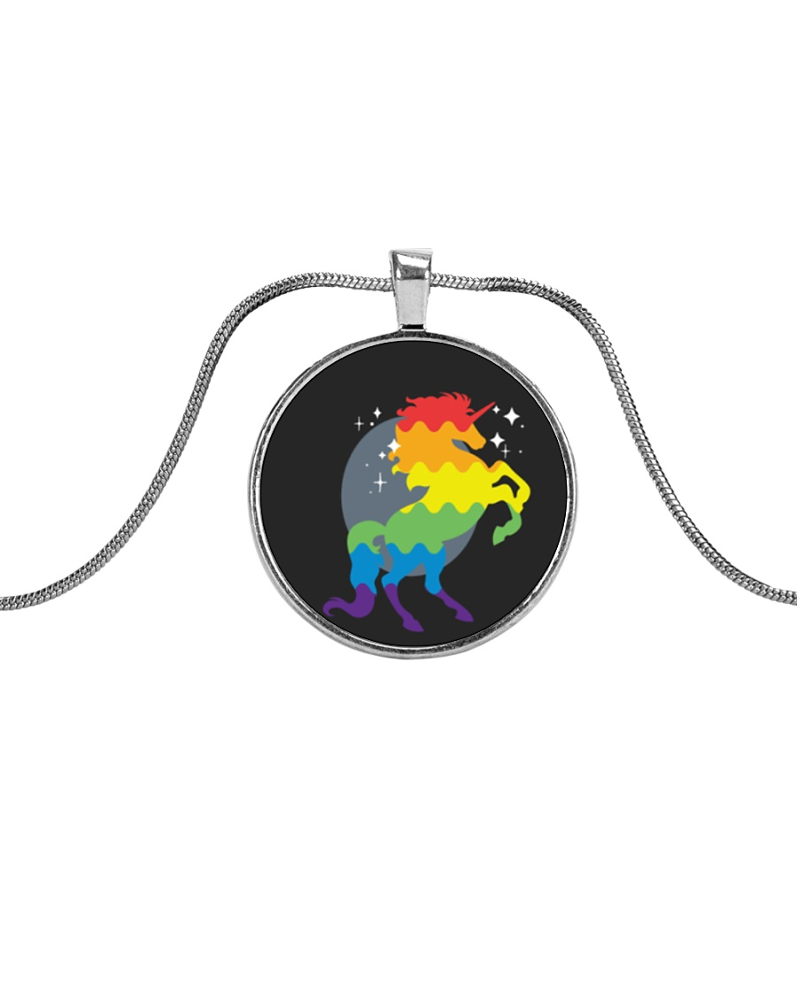 All those Unicorns Metallic Circle Necklace