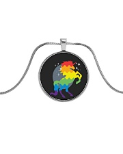 All those Unicorns Metallic Circle Necklace front