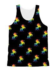 All those Unicorns All-over Unisex Tank front