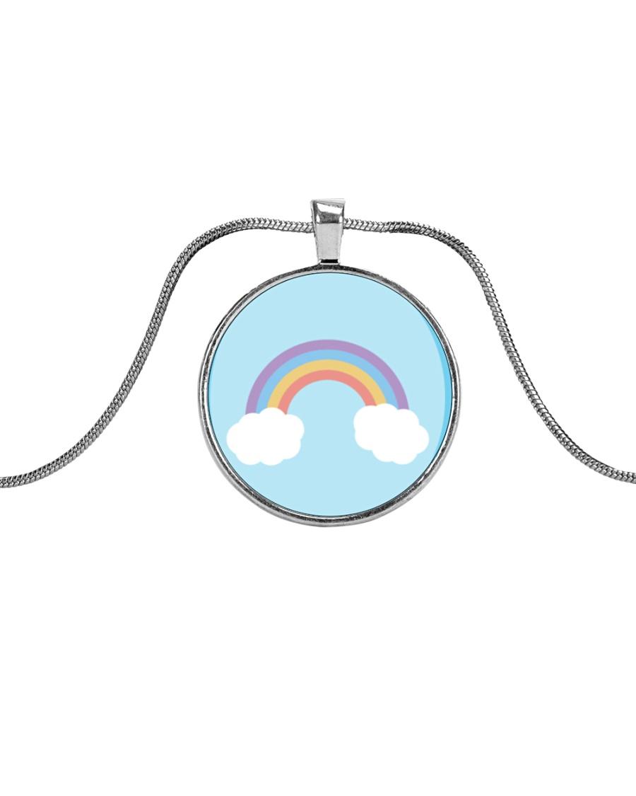 Rainbows Metallic Circle Necklace