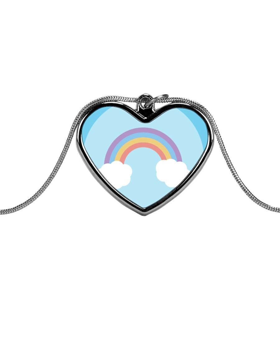 Rainbows Metallic Heart Necklace