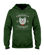 Merry Catmas Hooded Sweatshirt thumbnail