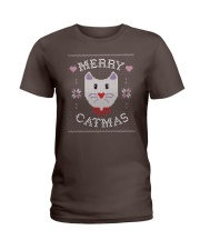 Merry Catmas Ladies T-Shirt thumbnail