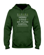 Merry Christmas Ya Filthy Animal Hooded Sweatshirt thumbnail