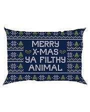 Merry Christmas Ya Filthy Animal Rectangular Pillowcase back