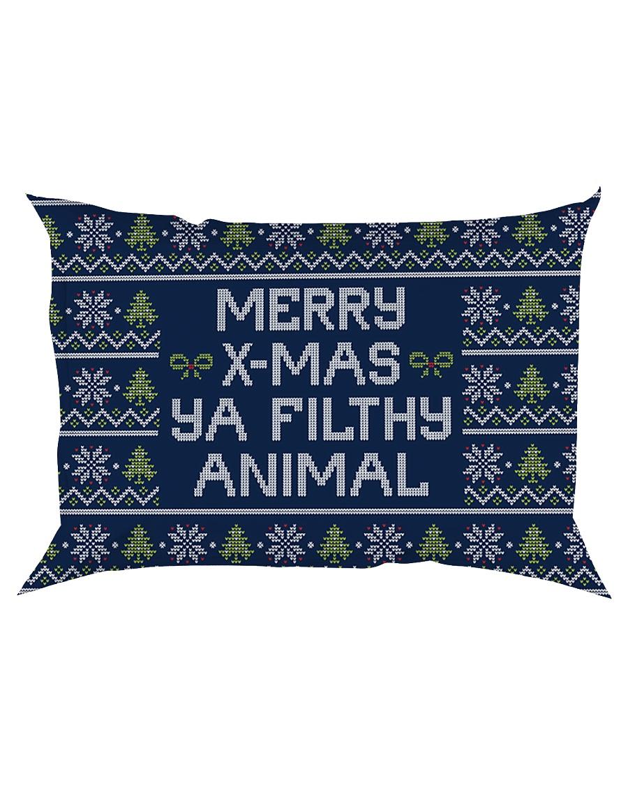 Merry Christmas Ya Filthy Animal Rectangular Pillowcase