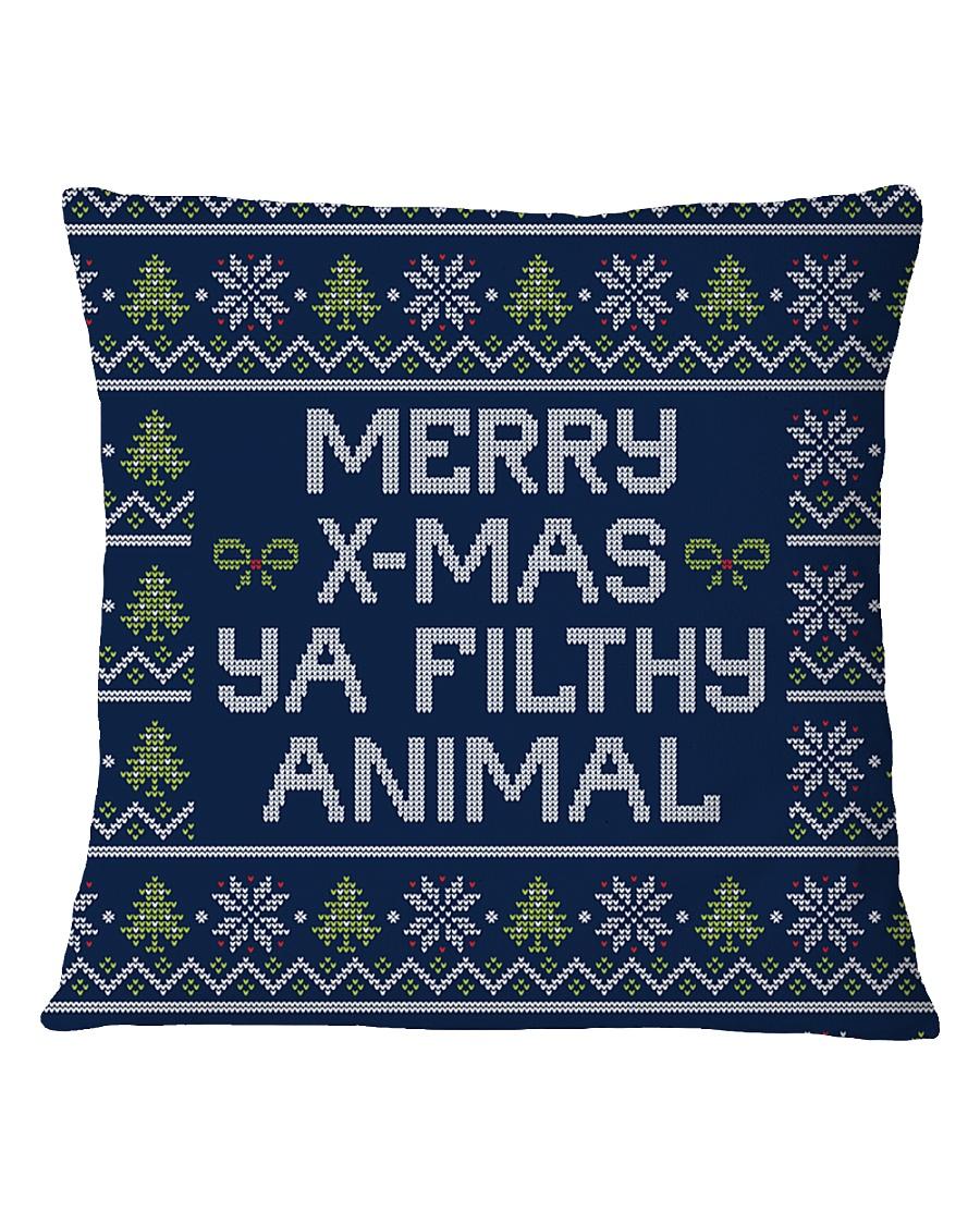 Merry Christmas Ya Filthy Animal Square Pillowcase