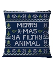 Merry Christmas Ya Filthy Animal Square Pillowcase thumbnail