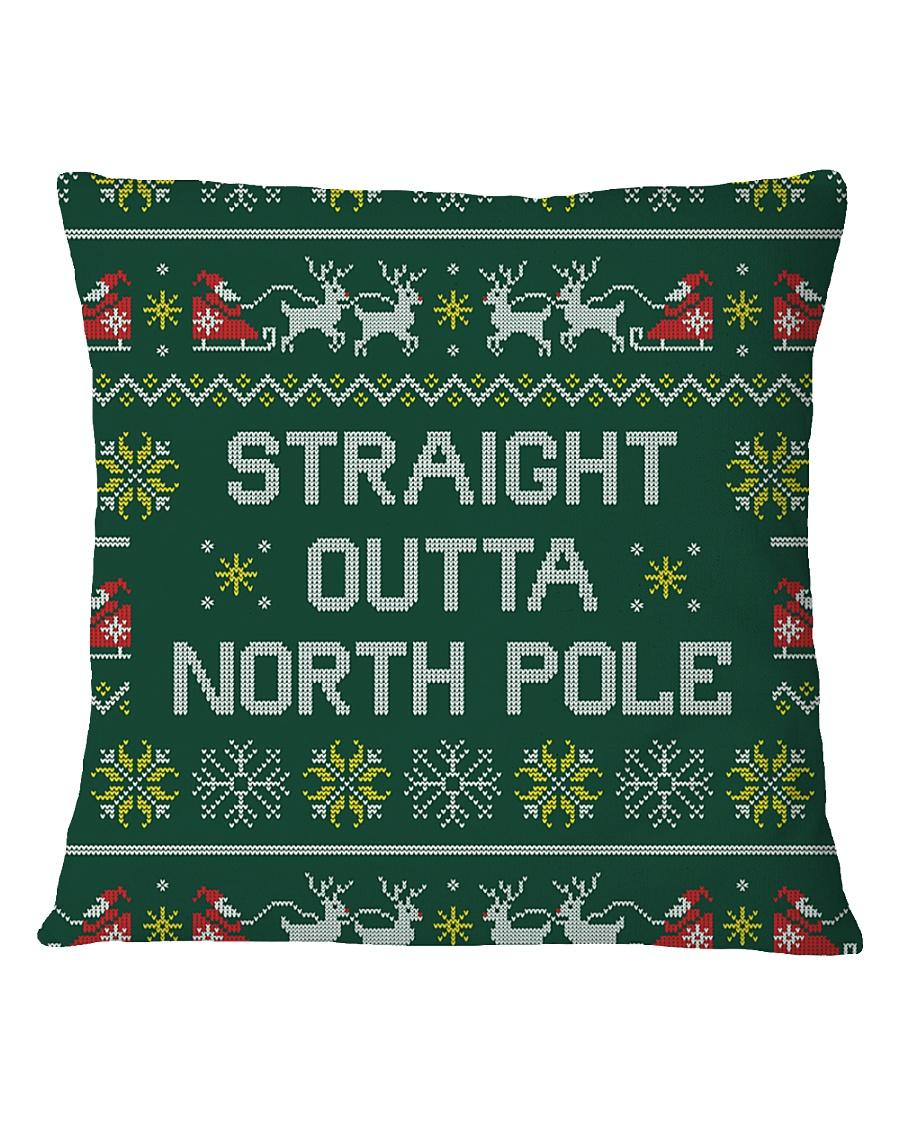 Straight Outta North Pole Square Pillowcase