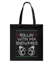 Rollin' With Ma Snowmies Tote Bag back