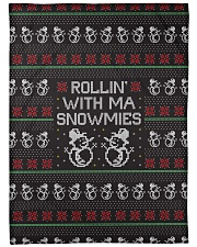 "Rollin' With Ma Snowmies Large Fleece Blanket - 60"" x 80"" thumbnail"