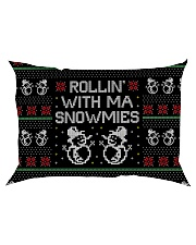 Rollin' With Ma Snowmies Rectangular Pillowcase thumbnail