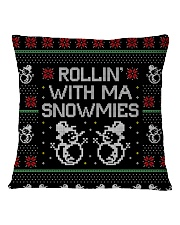 Rollin' With Ma Snowmies Square Pillowcase back