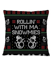 Rollin' With Ma Snowmies Square Pillowcase front
