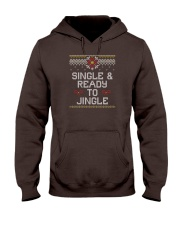 Single And Ready To Jingle Hooded Sweatshirt front