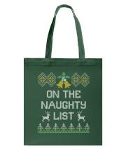 On The Naughty List Tote Bag thumbnail