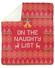 "On The Naughty List Sherpa Fleece Blanket - 50"" x 60"" thumbnail"